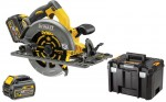 DEWALT pilarka tarczowa akumulatorowa 190mm XR FlexVolt 54V DCS576T2-QW do stosowania z szynami prowadzącymi, 2 aku. 6,0Ah, ładowarka i kufer TSTAK