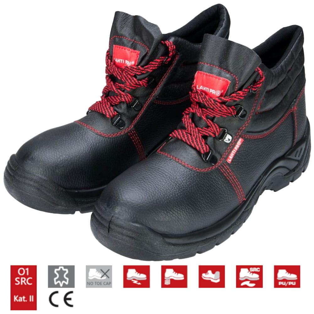 Trzewiki robocze Lahti Pro kat. 01 SRA buty skórzane rozmiar 44 czarne L3010144