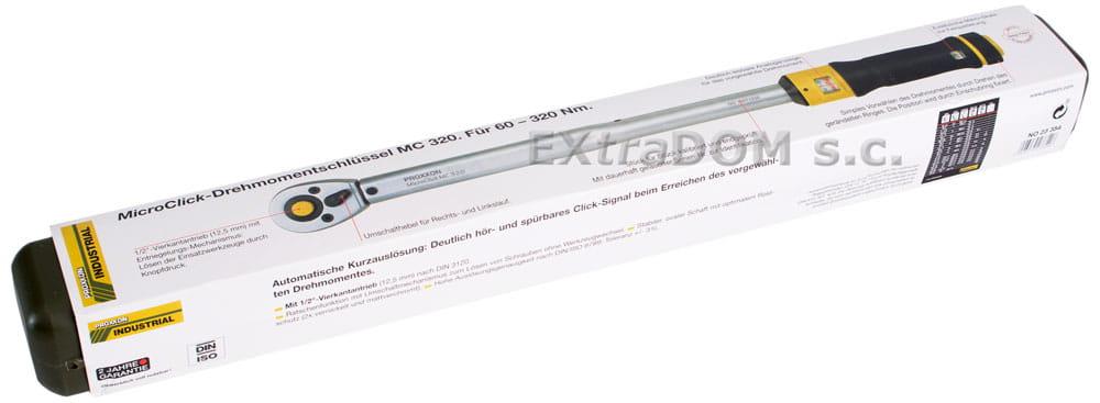 9ff3212a1053d ... Klucz dynamometryczny Proxxon 1 2   MIcro-Clik 320Nm PRK23354 certyfikat  kalibracji ...